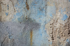 Textura rachada velha do muro de cimento da pintura Fotos de Stock