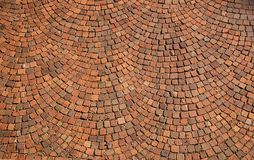 Textura radial del pavimento Foto de archivo