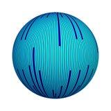 Textura rayada azul en concepto de la tecnología de la calculadora numérica Datos del ordenador sobre la forma de la bola o de la libre illustration