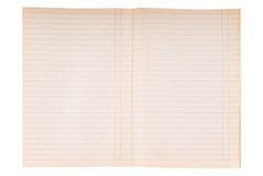 Textura rayada del papel del cuaderno Imagen de archivo libre de regalías