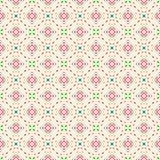 Textura rayada retra inconsútil única del modelo de Dot Sqiures Colorful Fabric Geometric ilustración del vector