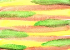 Textura rayada tricolora del fondo de la acuarela libre illustration