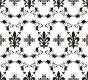 Textura real sem emenda com flor de lis Fotografia de Stock