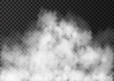 Textura realista del vector del humo o de la niebla del fuego ilustración del vector