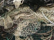 Textura redondeada de la red de pesca Imagen de archivo