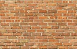 Textura resistida da parede de tijolo vermelho Fotografia de Stock