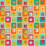 Textura retra con los cuadrados Fotos de archivo libres de regalías