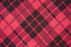 Textura retro de um pano escocês Imagens de Stock