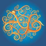 Textura rizada abstracta ilustración del vector