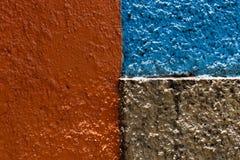 Textura roja, azul y marrón de la pared imagen de archivo libre de regalías