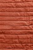 Textura roja de la cubierta de cama Fotos de archivo libres de regalías