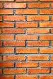 Textura roja de la pared de ladrillo Fotos de archivo
