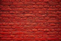 Textura roja de la pared de ladrillo Foto de archivo