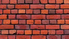 Textura roja de la pared de ladrillo Fotografía de archivo