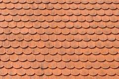 Textura roja de los azulejos de azotea Imagen de archivo