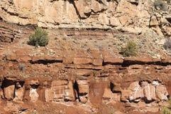 Textura roja del acantilado Imagen de archivo