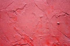 Textura roja del estuco Imagenes de archivo