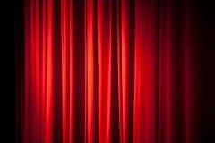 Textura roja del fondo de la cortina Imagen de archivo