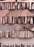 Textura roja del fondo de la pared de piedra de la pizarra Imágenes de archivo libres de regalías