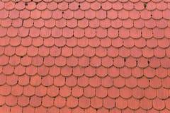 Textura roja del fondo del modelo del tejado Foto de archivo