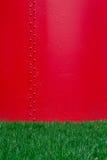 Textura roja del metal Fotografía de archivo libre de regalías