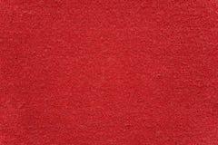 Textura roja del paño de la toalla Imagen de archivo