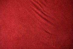 Textura roja del paño Imagenes de archivo