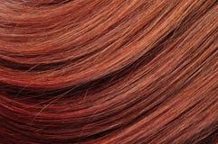 Textura roja del primer del pelo Fotos de archivo
