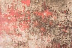 Textura roja sucia de la pared del cemento foto de archivo libre de regalías