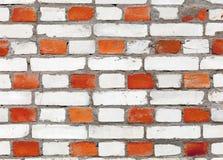 Textura roja y blanca del modelo de la pared de ladrillo Imagen de archivo