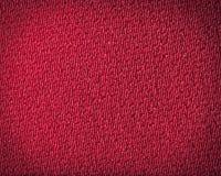 Textura rojo oscuro del paño del detalle. Imágenes de archivo libres de regalías