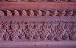Textura rosada áspera del viejo de la arquitectura elemento de la terracota Foto de archivo libre de regalías