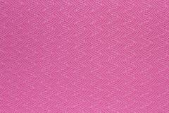 Textura rosada de la estera de la yoga Imágenes de archivo libres de regalías
