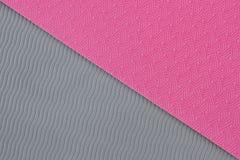 Textura rosada de la estera de la yoga Imagen de archivo libre de regalías