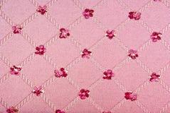 Textura rosada de la tela Imagenes de archivo