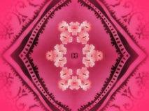 Textura rosada de la tela Fotografía de archivo