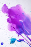 Textura rosada púrpura de la acuarela Foto de archivo