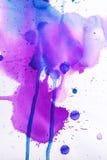 Textura rosada púrpura de la acuarela Fotos de archivo