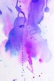 Textura rosada púrpura de la acuarela Imagenes de archivo