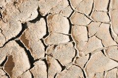 Textura seca del fondo del desierto del fango Imagen de archivo