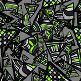 Textura sem emenda abstrata Teste padrão com triângulos Foto de Stock