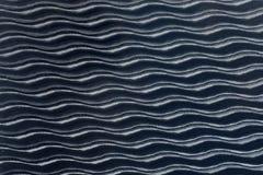 Textura sem emenda branca Fundo ondulado Decoração da parede interior teste padrão do painel 3D de ondas abstratas Imagem de Stock