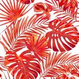 Textura sem emenda brilhante do vetor com folhas multicoloridos ilustração royalty free
