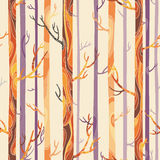 Textura sem emenda com árvores ilustração stock