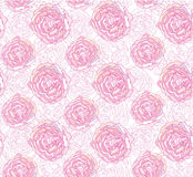 Textura sem emenda com as flores do esboço do lilac Foto de Stock
