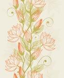 Textura sem emenda com as flores no vetor Imagem de Stock Royalty Free