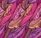 Textura sem emenda com as penas cor-de-rosa com teste padrão da garatuja ilustração royalty free