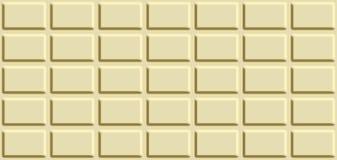 Textura sem emenda com a barra de chocolate branca Imagens de Stock Royalty Free