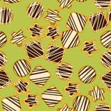 Textura sem emenda com cookies Imagens de Stock