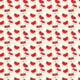 Textura sem emenda com corações Fotografia de Stock